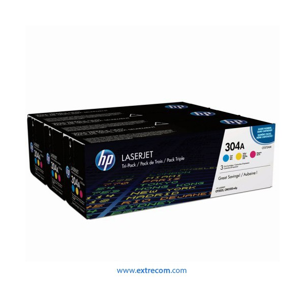 HP 304A pack 3 colores original