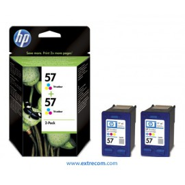 HP 57 pack 2 unidades color original