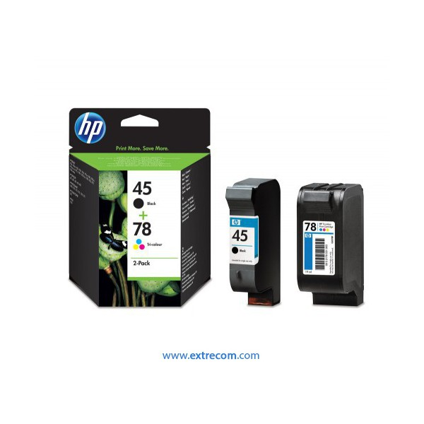 HP 45 + 78 pack 2 unidades original
