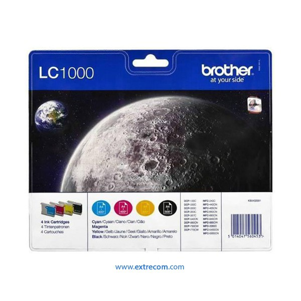 Brother LC1000VALBP pack 4 colores original