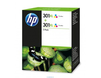 HP 301 XL pack 2 unidades color original