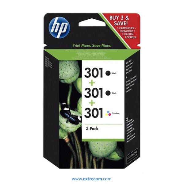 HP 301 pack 3 unidades original