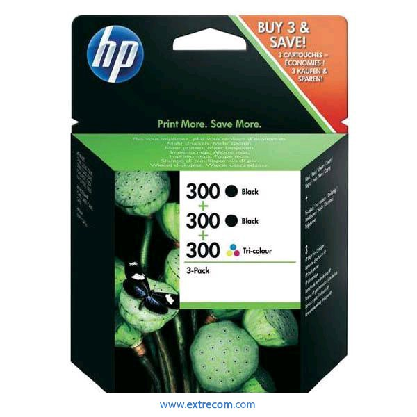 HP 300 pack 3 unidades original