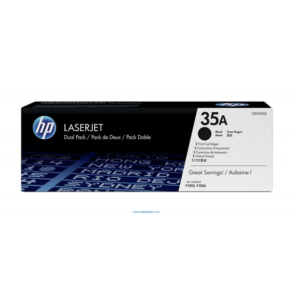HP 35D pack 2 negro original