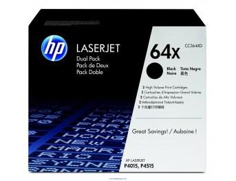 HP 64X pack 2 negro original