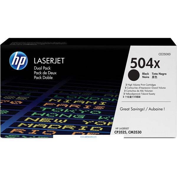 HP 504X pack 2 negro original