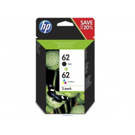 hp 62 pack negro/color