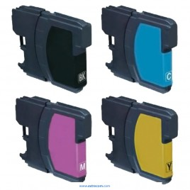Brother LC121/123 pack 4 colores compatible