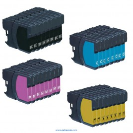 Brother LC121/123 pack 32 unidades compatible