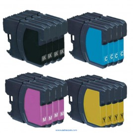 Brother LC121/123 pack 16 unidades compatible