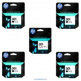HP 301 pack 5 unidades original