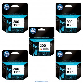 HP 300 pack 5 unidades original