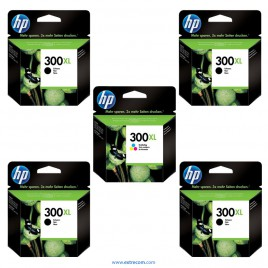 HP 300 XL pack 5 unidades original