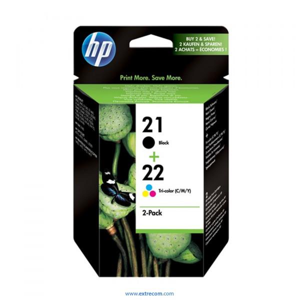 HP 21/22 pack 2 unidades original