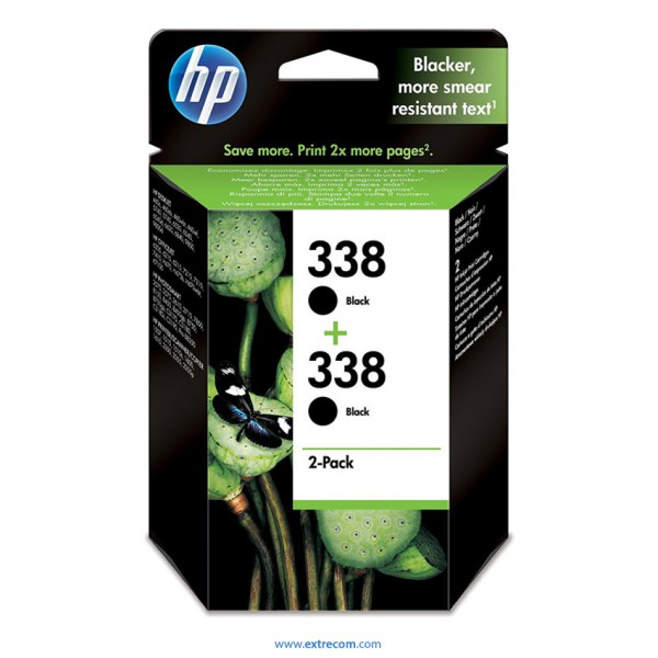 HP 338 pack 2 unidades negro original