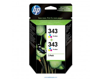 HP 343 pack 2 unidades color original