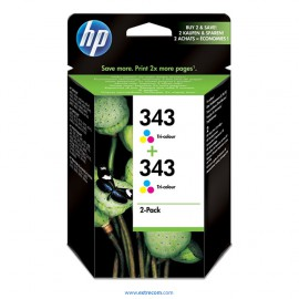 hp 343 pack de dos original
