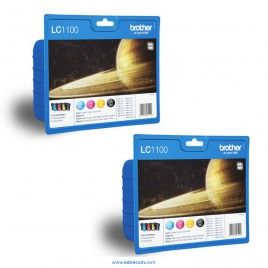 Brother LC1100 2x pack 4 colores original