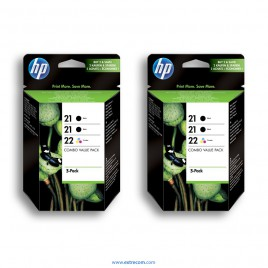 HP 21/22 2x pack 3 unidades original