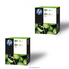 HP 301 XL 2x pack 2 unidades color original