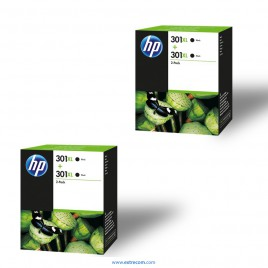 HP 301 XL 2x pack 2 unidades negro original