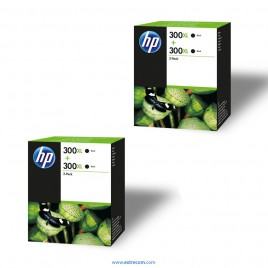 HP 300 XL 2x pack 2 negro original