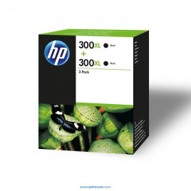HP 300 XL pack 2 negro original