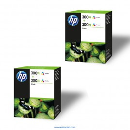HP 300 XL 2x pack 2 color original