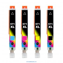 Canon 571 XL pack 4 colores compatible