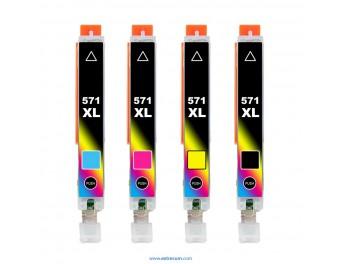 Canon 571 XL pack 4 colores compatible