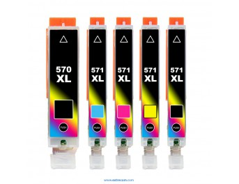 Canon CLI-571/PGI-570 XL pack 5 colores compatible