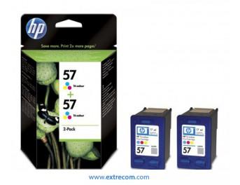 HP 57 pack 2 unidades color original