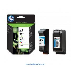 HP 45 + 78 pack 2 unidades original