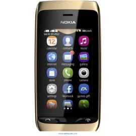 Nokia Asha 308 Dual Black gold