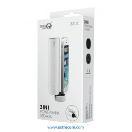 Altavoz 3en1,Power Bank 4000mAh blanco
