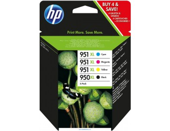 HP 950 XL pack 4 colores original