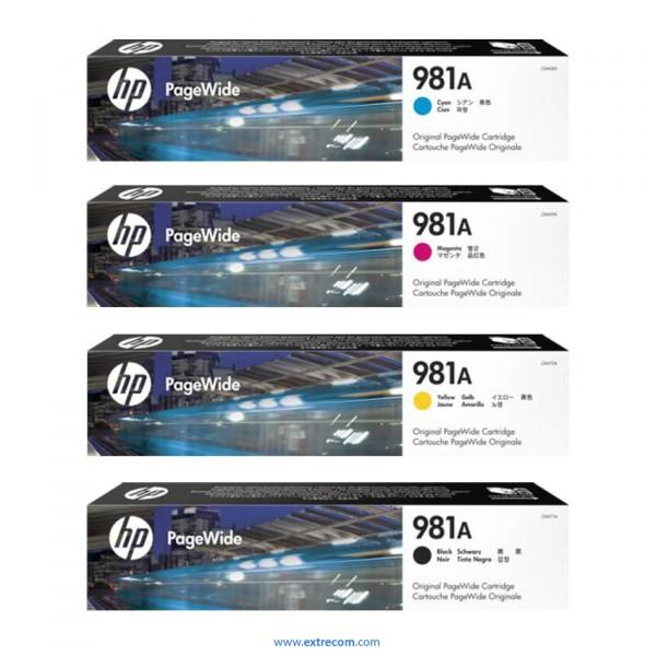 HP 981A pack 4 colores original