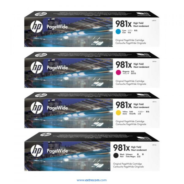 HP 981X pack 4 colores original