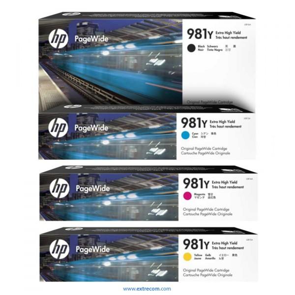 HP 981Y pack 4 colores original