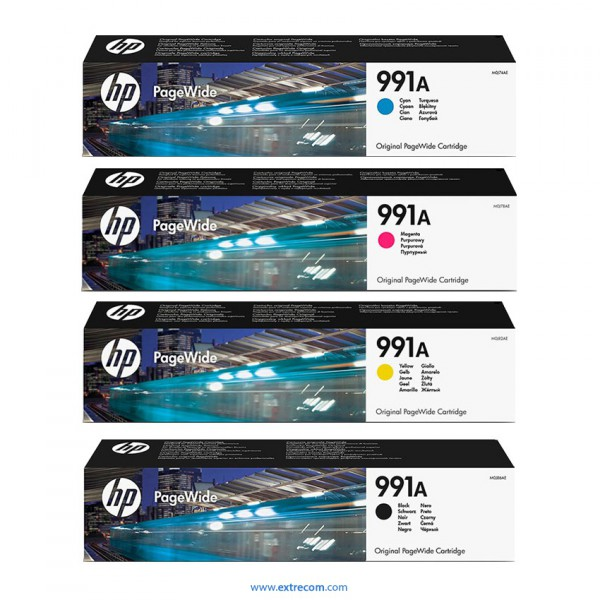 HP 991A pack 4 colores original
