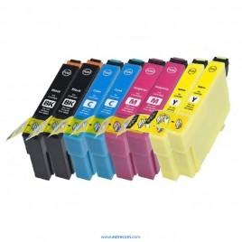 Epson 18 XL pack 4x2 colores compatible