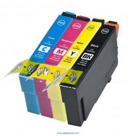 Epson T1281/2/3/4 pack 4 colores compatible