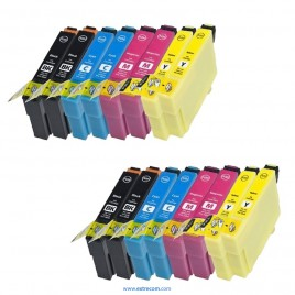 Epson T1281/2/3/4 pack 16 unidades compatible
