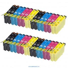 Epson T1281/2/3/4 pack 32 unidades compatible
