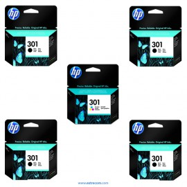 HP 301 pack 5 unidades original