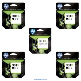 HP 301 XL pack 5 unidades original