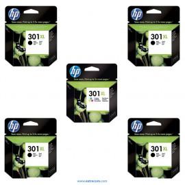 HP 301 XL pack 5 unidades original