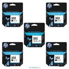 HP 302 pack 5 unidades original