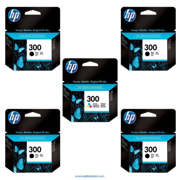 HP 300 pack 5 unidades original