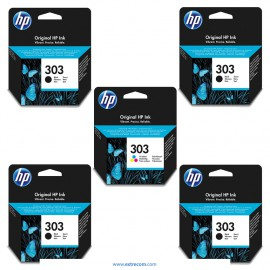 HP 303 pack 5 unidades original